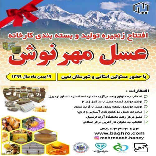 افتتاح کارخانه عسل مهرنوش