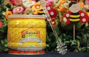 شهد عسل طبیعی با ساکارز زیر 2 گرم درصد مهرنوش